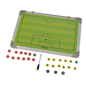 Football Coaching Board Dry Erase Teaching Clipboard Hanging Coaches Strategy Training Aids Coaching Tool with Marker Pen