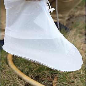 Túi bọc giày trong suốt, chống thấm nước khi đi mưa, có khóa kéo tiện lợi