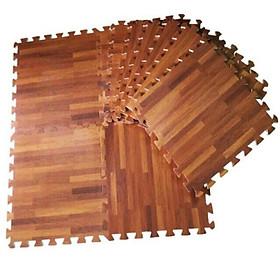 12 thảm xốp vân gỗ 60x60cm