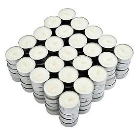 Nến tealight 100 viên không mùi dày 1.5cm cháy từ 4h-5h | Bio Aroma