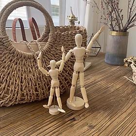 Mô hình búp bê bằng gỗ dùng trang trí phong cách nghệ thuật - 3 size lựa chọn - HÀNG CÓ SẴN