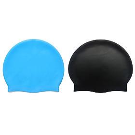 2 nón bơi trùm tai ngăn nước silicone cao cấp
