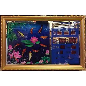 Tranh lịch vạn niên cá chép -3003