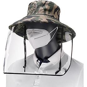 Unisex Kính che mặt bảo vệ trong suốt chống khạc nhổ chống gió và chống bụi, Mũ chống nắng cầm tay Mũ ngư dân