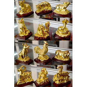 Một tượng con giáp sơn xi vàng