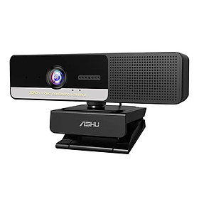 ASHU 2M Pixel 1920x1080P High Definition Video Webcam with 4 Noise Reduction Mic M-agnetic P-rivacy Cam P-rotection