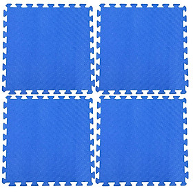 Bộ 4 tấm Thảm xốp lót sàn an toàn Thoại Tân Thành - màu xanh dương (60x60cm)