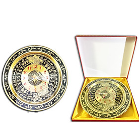 Hình đại diện sản phẩm Đồng hồ bản đồ Việt nam khắc chữ S tinh xảo 54 cm