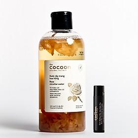 Combo nước tẩy trang hoa hồng cocoon 300ml + Son dưỡng môi cocoon 5g