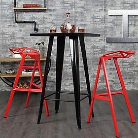 Bộ bàn ghế bar cafe ban công ngoài trời Tolix One nhôm sơn