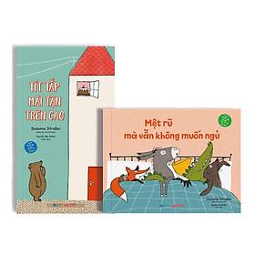 Bộ sách  Rủ rỉ trước giờ đi ngủ: Mệt rũ mà vẫn không muốn ngủ + Tít tắp mãi tận trên cao - Board Book dành cho trẻ từ độ tuổi 3+ - Truyện thiếu nhi Crabit Kidbooks