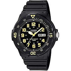Casio Men's MRW-200H-9BVDF Sports Analog Dive Quartz Black Watch