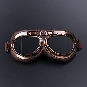 Motorcycle Goggles Glasses Vintage Motocross Retro Aviator Pilot Cruiser ATV UV Protection Goggles