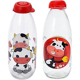 Combo - 2 Chai Sữa Thuỷ Tinh Herevin Decor 1L 111701