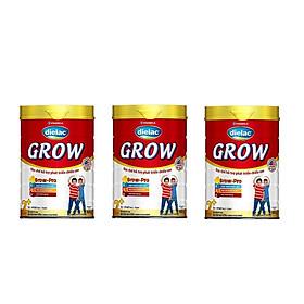 BỘ 3 LON SỮA BỘT VINAMILK DIELAC GROW 2+ 900G (CHO TRẺ TỪ 2 - 10 TUỔI)