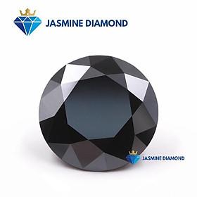 (Size từ 4-7.5 ly) Kim cương nhân tạo Mỹ Moissanite giác cắt tròn màu đen
