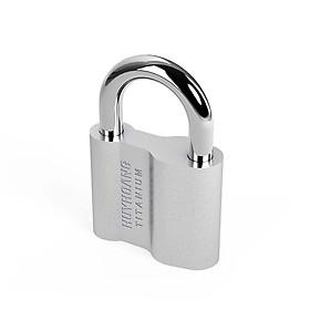 Ổ khoá cửa treo Huy Hoàng Titanium 4P - KTCTI6-E / 5P - KTCTI8-E / 6P - KTCTI10-E - Khóa móc Con Voi màu trắng bạc, cầu khóa làm bằng thép mạ phủ Ni & Cr - Khóa treo chìa (khi khóa cần chìa)