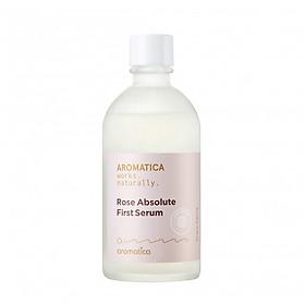 Tinh chất hoa hồng nguyên chất giúp dưỡng trắng, dưỡng ẩm, chống lão hóa AROMATICA Rose Absolute First Serum