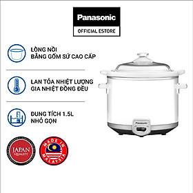 Nồi Nấu Chậm Ninh Hầm Đa Năng Panasonic 1.5 Lít NF-N15SRA - Lòng nồi gốm - Đa chức năng- Tiết kiệm điện - Hàng Chính Hãng
