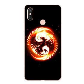 Ốp lưng dẻo cho điện thoại Xiaomi Mi Max 3 - Phượng Hoàng Lửa