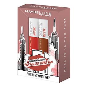 Bộ Đôi Son Kem Lì Lâu Trôi Maybelline New York Super Stay Matte Ink x Hiền Hồ
