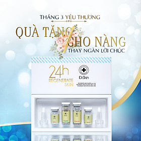 CÔNG NGHỆ TÁI TẠO LÀN DA MỤN 24H REGENNERATE SKIN - COMBO VI TẢO TÁI TẠO LÀN DA MỤN 24H - Thương Hiệu iDr.Skin  (Gồm: 01 lọ Regenerate Skin Powder 1g + 01 lọ Regenerate Skin Solution 10ml + 02 lọ Regenerate Skin Ampoule  8ml). Xuất Xứ Hàn Quốc. Hàng Chính Hãng