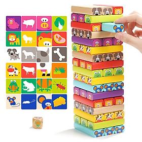 Đồ chơi gỗ KM - Rút gỗ hình hoạt hình cao cấp cho bé sáng tạo, kích thích trí tưởng tượng