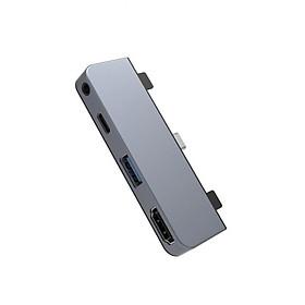 Cổng chuyển HyperDrive 4 IN 1 HDMI 4K/30HZ USB-C dùng cho Ipad Pro/ Macbook - Hàng Chính Hãng