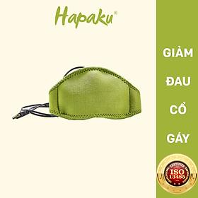 Bộ đai chườm nóng thảo dược giảm đau cổ gáy dùng điện - Hapaku