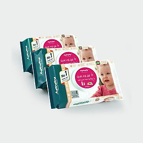 Combo 3 gói khăn ướt ngừa hăm, rôm sảy Mamamy 80 tờ/gói, kháng khuẩn, an toàn cho trẻ sơ sinh