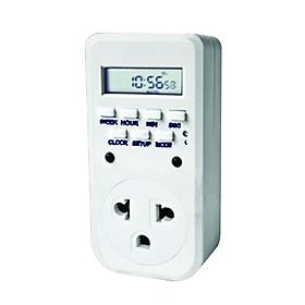 Ổ cắm hẹn giờ Điện Quang ĐQ ESK DT10 W 13 (Điều chỉnh điện tử, 1 lỗ - 3 chấu, trắng)