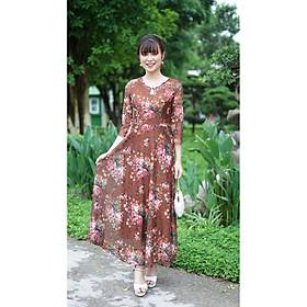 Váy Trung Niên - Đầm Quý Bà thiết kế chất ren thun 2 lớp co dãn 4 chiều - thu đông dày dặn cao cấp/Váy cho mẹ - người già (Mã 516)