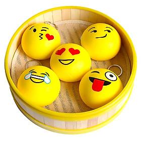Squishy bánh bao mặt cười, squishy chậm tăng mùi thơm dịu nhẹ - Giao mặt cười ngẫu nhiên - 7,5cm