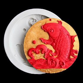 Khuôn silicon làm bánh, rau câu, trung thu, ép xôi cá chép vượt vũ môn