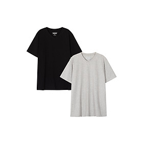 Combo 2 áo thun nam cổ tim Cotton thương hiệu Coolmate