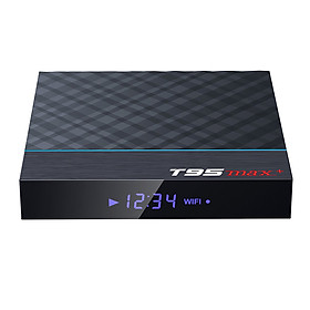T95 MAX Plus Smart TV Box Android 9.0 S905X3 64 Bit 2.4G+5G Dual-band WiFi UHD 8K VP9 H.265