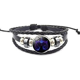 Constellation Bracelet Leather Bracelet Lucky 12 Kinds Hand Chain Bangle Lovers