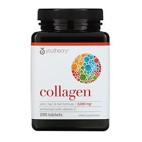 Viên uống bổ sung Collagen Youtheory (Collagen Type 1-2-3) 290 Viên mẫu mới, hàng Mỹ