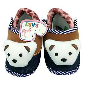 Giày Tập Đi Đế Bệt Baby Panda Bảo Thịnh - Nâu (13cm)