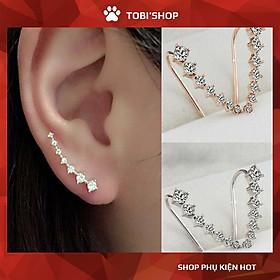 Khuyên tai vành đính đá nhân tạo TB16 - TOBI'SHOP