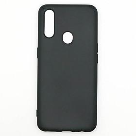 Ốp lưng cho OPPO A31 2020 chất liệu silicon dẻo màu đen chống sốc