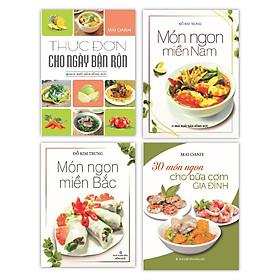 Sách - Món Ngon Miền Bắc - Món Ngon Miền Nam - Thực Đơn Cho Ngày Bận Rộn - 30 Món Ngon Cho Bữa Cơm Gia Đình (Bộ 4 Cuốn)