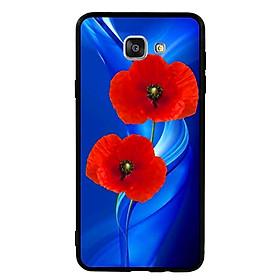 Hình đại diện sản phẩm Ốp Lưng Viền TPU cho điện thoại Samsung Galaxy A9 - Anh Túc Hoa 02