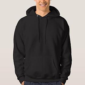 Áo Hoodie Trơn Màu Đen Thời Trang Trẻ, Năng Động- FM6GV016