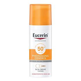 Kem Chống Nắng Làm Đều Màu Da Eucerin Sun Cream Face Tinted CC Cream SPF50+ (Tông Màu Da Tự Nhiên)