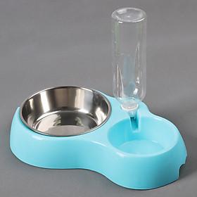 Bát ăn kết hợp với uống nước tự động cho mèo và cún cưng (Loại lớn)