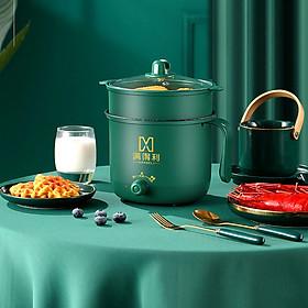 Ca nấu mỳ MANDELI dung tích 1.8L, Ca điện đa năng có thể chế biến mọi món ăn bạn yêu thích (Màu xanh lá)