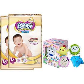 Combo 2 Gói Tã/Bỉm Quần Cao Cấp Bobby Extra Soft-Dry M64 - [Tặng Hộp Đồ Bông 5 Món Đặc Biệt Bobby Chan & 4 Người Bạn]