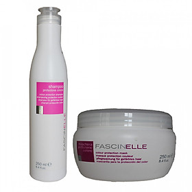 Bộ dầu gội dưỡng màu và kem ủ xả dưỡng màu cho mái tóc nhuộm Fascinelle ( Ý) - DMC013
