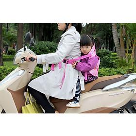 Đai giữ cho bé ngồi xe máy có đỡ cổ 2 trong 1 Cho Bé 1-5 tuổi